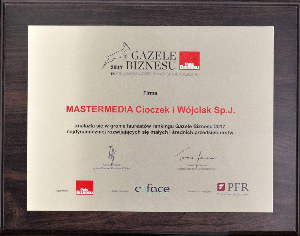 Mastermedia Super Gazelle of Business 2017